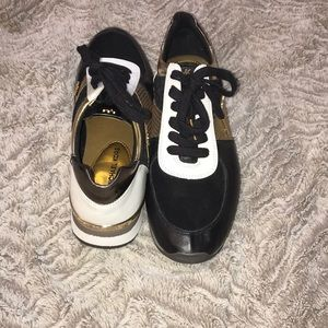 Black, gold and white Michael Kors Shoes